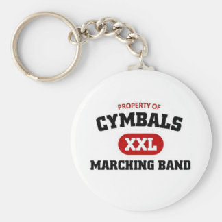 Cymbals marching band keychain