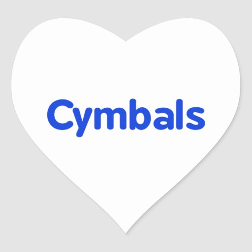 cymbals text blue stickers