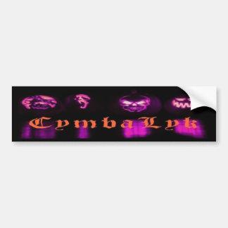 CymbaLyk Evil Pumpkins Bumpersticker Bumper Sticker