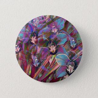 Cymbidium Orchid Carnival 2 Inch Round Button