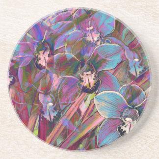 Cymbidium Orchid Carnival Coasters