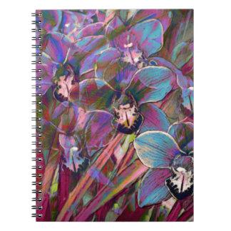 Cymbidium Orchid Carnival Notebooks