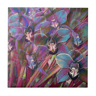 Cymbidium Orchid Carnival Tile
