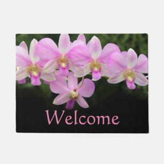 Cymbidium Orchid Pink Flowers Doormat