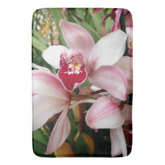 Cymbidium Orchids Blush with Pink Spotted Lip Bath Mat