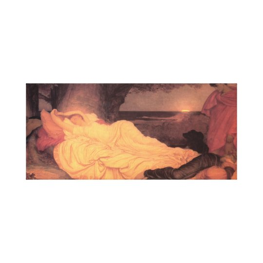 Cymon and Iphigenia ~ Lord Frederick Leighton Canvas Print