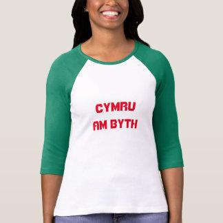 Cymru am byth, Wales for ever in Welsh T-Shirt