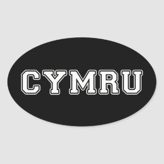 Cymru Oval Sticker