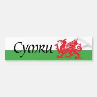 Cymru Wales Flag Bumper Sticker