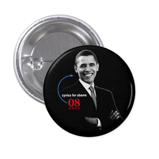 Cynics for Barack Obama button