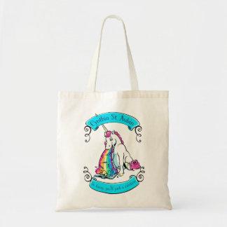 Cynthia St. Aubin Rainbow-Yarking Unicorn Tote! Tote Bag