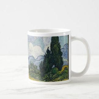 Cypress Grove and Wheat Field Coffee Mug