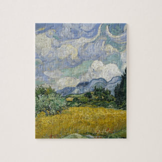 Cypress Grove and Wheat Field Jigsaw Puzzle