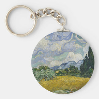 Cypress Grove and Wheat Field Keychain