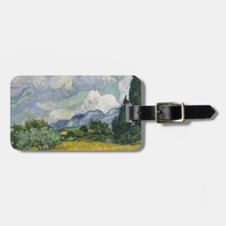 Cypress Grove and Wheat Field Luggage Tag