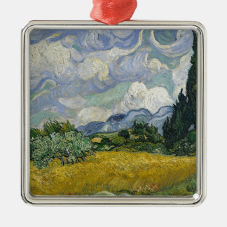 Cypress Grove and Wheat Field Metal Ornament