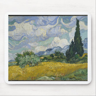 Cypress Grove and Wheat Field Mouse Pad