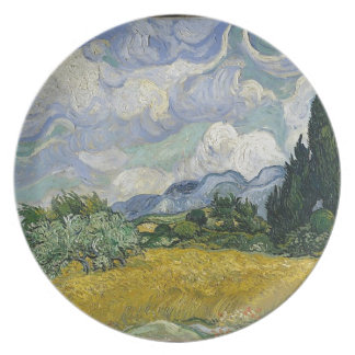 Cypress Grove and Wheat Field Plate