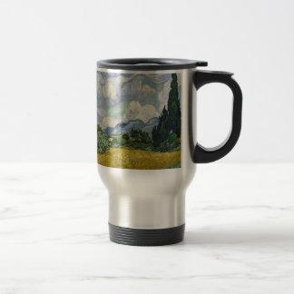 Cypress Grove and Wheat Field Travel Mug