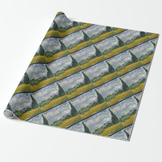Cypress Grove and Wheat Field Wrapping Paper