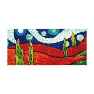 Cypress Nightscape Canvas Print