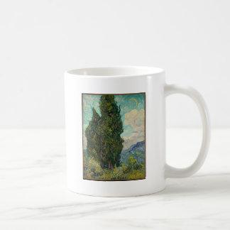 Cypress Tree at Night Coffee Mug