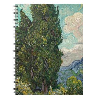 Cypress Tree at Night Notebook