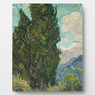 Cypress Tree at Night Plaque