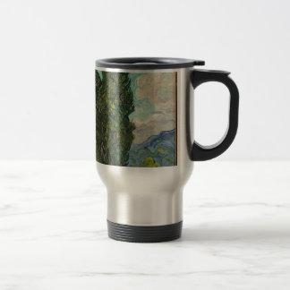 Cypress Tree at Night Travel Mug