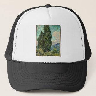 Cypress Tree at Night Trucker Hat