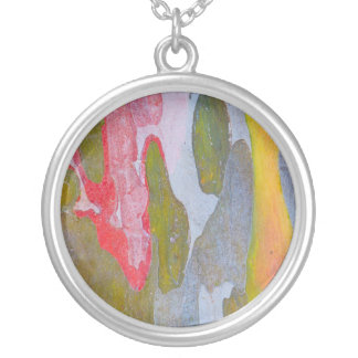 Cypress tree bark patterns, Italy Silver Plated Necklace