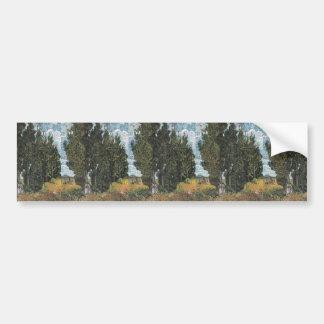 Cypress Trees by Van Gogh Bumper Sticker