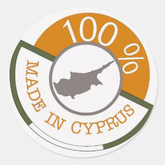 CYPRUS 100% CREST CLASSIC ROUND STICKER