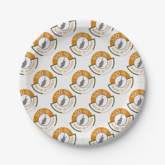 CYPRUS 100% CREST PAPER PLATE