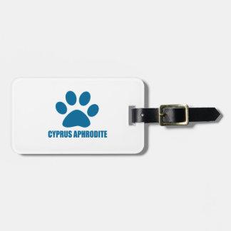 CYPRUS APHRODITE CAT DESIGNS LUGGAGE TAG