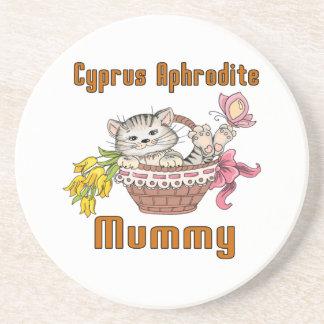 Cyprus Aphrodite Cat Mom Coaster