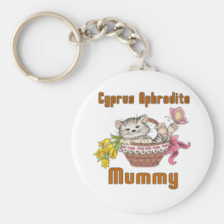 Cyprus Aphrodite Cat Mom Keychain