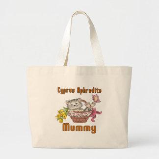 Cyprus Aphrodite Cat Mom Large Tote Bag