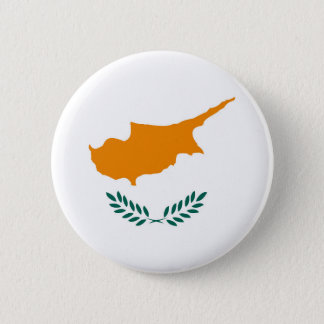 Cyprus country flag symbol long 2 inch round button