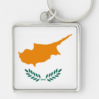 Cyprus country flag symbol long keychain