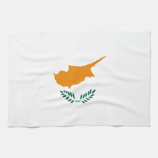 Cyprus country flag symbol long kitchen towel