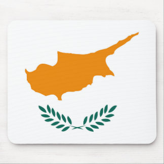 Cyprus country flag symbol long mouse pad