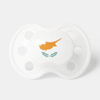 Cyprus country flag symbol long pacifier