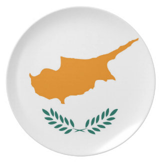 Cyprus country flag symbol long plate