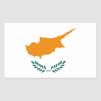 Cyprus country flag symbol long sticker