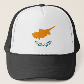 Cyprus country flag symbol long trucker hat