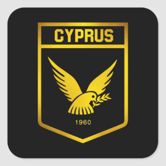 Cyprus Emblem Square Sticker
