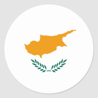 Cyprus Fisheye Flag Sticker