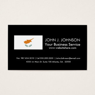 Cyprus Flag Business Card