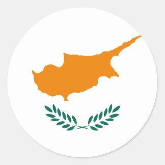 Cyprus Flag Classic Round Sticker